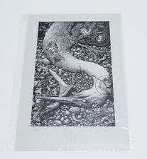 Black Lake Letterpress Art Print with CoA by Aaron Horkey MONDO VACVVM Artist
