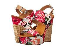 Jessica Simpson Soft Pink Anika Platform Wedge Open Sandals Floral Print 9.5 New