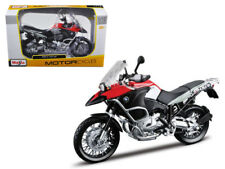1/12 Maisto BMW R 1200 GS Motorcycle Model Silver Black Red 31157