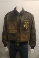 Avirex Type A-2 USAAF 100% Leather Jacket With Military Patches , Size: M
