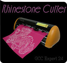 "GCC EXPERT II 24"" VINYL CUTTER PRO soft RHINESTONE KIT siser heat transfer vinyi"