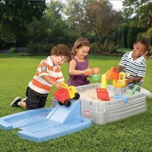 Outdoor Portable Sandbox Toy w/Lid Big Digger Imaginative Backyard Kids Play Set