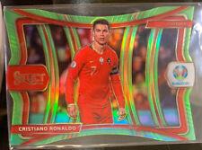 2020 Panii Select UEFA Euro #136 Cristiano Ronaldo Die Cut Green Prizm #075/149