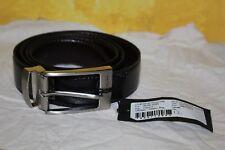 ORIGINAL CALVIN KLEIN ceinture cuir 120 cm noir brun grainé neuf n°12