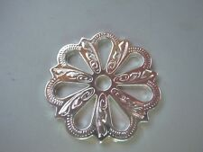 """Bright Silver Filigree  2"""""""" Rowel Plated With Real Silver"""