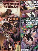 WONDER WOMAN. NO'S 143-146. PARTS 1-4. (4 ISSUE LOT/RUN).ADAM HUGHES.  DC COMICS