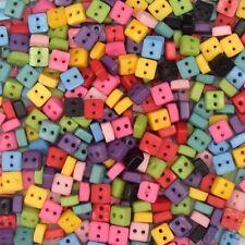 200pcs Plastic Assorted Square Button Lots Bulk Craft 6mm Cards DIY Kids