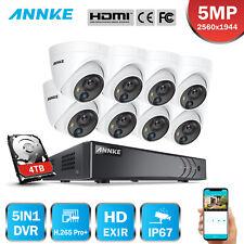 ANNKE 5MP PIR Caméra Surveillance 8CH DVR Sécurité Alerte Visuelle IP67 H.265+