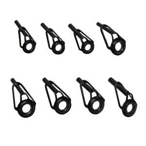 8pcs Fishing Rod Guides Repair Kit Ceramic Stainless Steel Guide Tip Top Eyelet