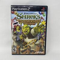 Shrek's Carnival Craze Party Games (Sony PlayStation 2, 2008) - PS2 No Manual