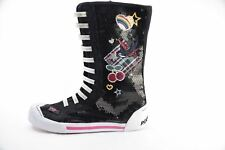 Rocket Dog Youth Black Juniors Jazzy Sparkle Tattoo High Top Shoes US 3.5