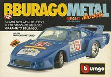 X1191 BBURAGO - PORSCHE 935 Turbo - Pubblicità 1990 - Advertising
