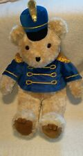 "JCPenney Holiday Collection Teddy Bear 26"" Creme Blue Marching Big Plush Stuffed"