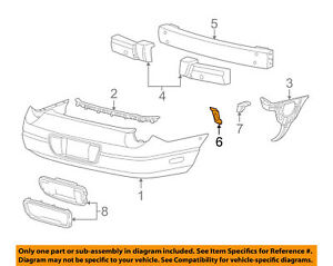 New OEM Ford Thunderbird Bumper Impact Reinforcement Plate Right 1W6Z17C810AA