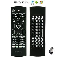 ProChosen 2.4G Backlit Air Mouse Remote, Wireless Keyboard and Infrared Learning