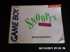 Snoopy's Magic Show (Gameboy) GB Instruction Manual Booklet Only... NO GAME