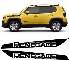 Jeep Renegade Trailhawk Side Stripes Vinyl Decals Stickers Wrap