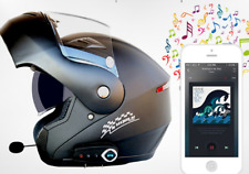 Anti-noise Dual Lens Full Face Motorcycle Headset Helmet FM Speaker Bluetooth