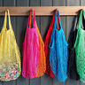 1PC Pro String Grocery Reusable Shopping Bag Cotton Mesh Net Woven Shopper Bag