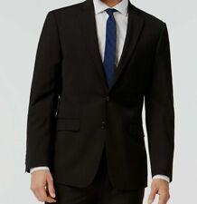 $645 Calvin Klein Men Extreme Slim X Fit Wool Sport Coat Black Jacket Blazer 44S