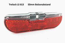 Fahrrad LED Rücklicht 50mm Standlicht Dynamo Gepäckträger Trelock DUO FLAT �— Neu