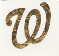 GOLD LEAF Washington Nationals 2 inch fire helmet decal sticker RTIC window