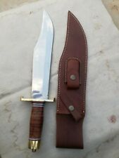 Custom Handmade High Polish Alamo Musso  5160 Spring Steel Bowie Knife
