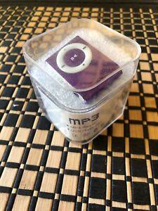 Mini MP3 Music Multimedia Player USB Flash Disk Metallic Purple Micro SD