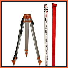 DATUM ALUMINIUM TRIPOD & 5 METRE LEVELLING STAFF KIT - EXCELLENT BUILD QUALITY