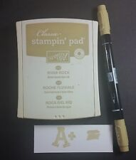 Stampin' Up! Retired RIVER ROCK Fabric Linen Ink Pad and Marker Neutral Color