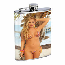 Belize Pin Up Girls D10 Flask 8oz Stainless Steel Hip Drinking Whiskey