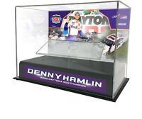 Denny Hamlin 2020 Daytona 500 Champ 1:24 Die Cast Display Case & Plate