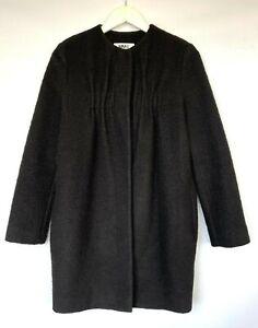 MAISON MARGIELA Black Boiled Wool Cocoon Coat  Extra Small UK6   RRP£1000*GREAT*