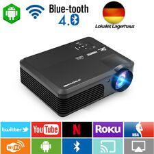 Android Blue-Tooth LCD LED HD Projektor Video Heimkino-Film HDMI US Miracast