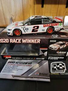 NASCAR 2020 BRAD KESELOWSKI #2 BRISTOL RACE WIN DISCOUNT TIRE 1/24  DIN #1!!!
