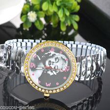 Marilyn Monroe Stretchy Steel Belt Rhinestone Women Leisure Wrist Watch Fashion