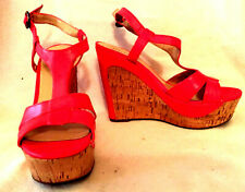 Guess womens shoes WEDGE SANDAL  ORANGE size 8