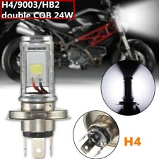 Super white H4 9003 COB 24W For Motorcycle headlight high/low beam lamp bulb