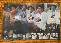 Joe Thornton 1997 UPPER DECK ICE WORLD JUNIOR CHAMPIONSHIPS Card - Rookie. MT.