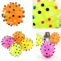 Squeaky Toys Funny Food Spikey Fun Colorful Rubber Sound Ball Dog Pet Toy