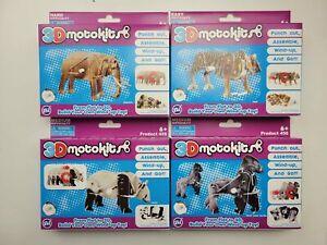 3D Motokit Animal Series Panda, Tiger, Elephant, Gorilla
