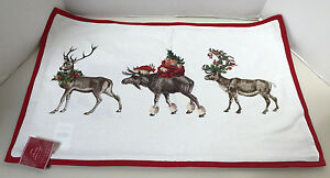"""Pottery Barn Silly Stag Lumbar Pillow Cover 16 x 26"""" New with Tag"""