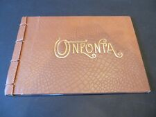 "Oneonta NY 25 Page Booklet 5""x7"" Booklet of town photos & views ""Geo. I. Wilber"""