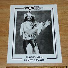 Macho Man Randy Savage wcw wwe 8x10 wrestling official promo photo 1994