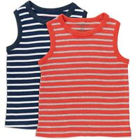 Boys tank top tshirt - 2 pack  age 2 3 4 5 6 7 y ( Mini Boden quality) striped