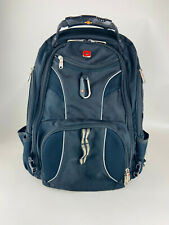"Swiss Gear Tactical Business Black Rugged Large Padded Backpack Fits 17"" Laptop"