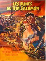 Plakat Kino Les Mines Du König Salomon Stewart Granger - 120 X 160 CM