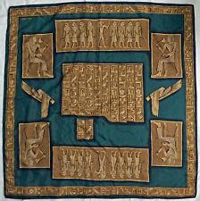 """Vintage Scarf / Bandanna Ellen Tracy Egyptian Motif 34.5"""""""