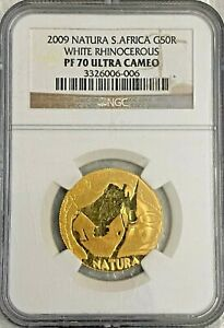 2009 South Africa 50 Rand Gold Coin NGC PF 70 Ultra Cameo