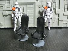 Star Wars Award Winning Custom Cast Black Chairs Diorama Parts Free Shipping